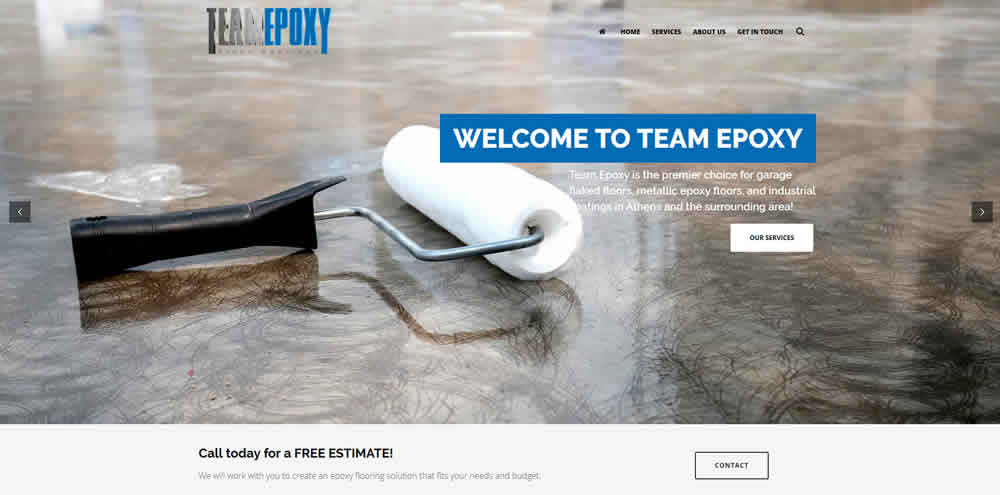 website design athens georgia team epoxy